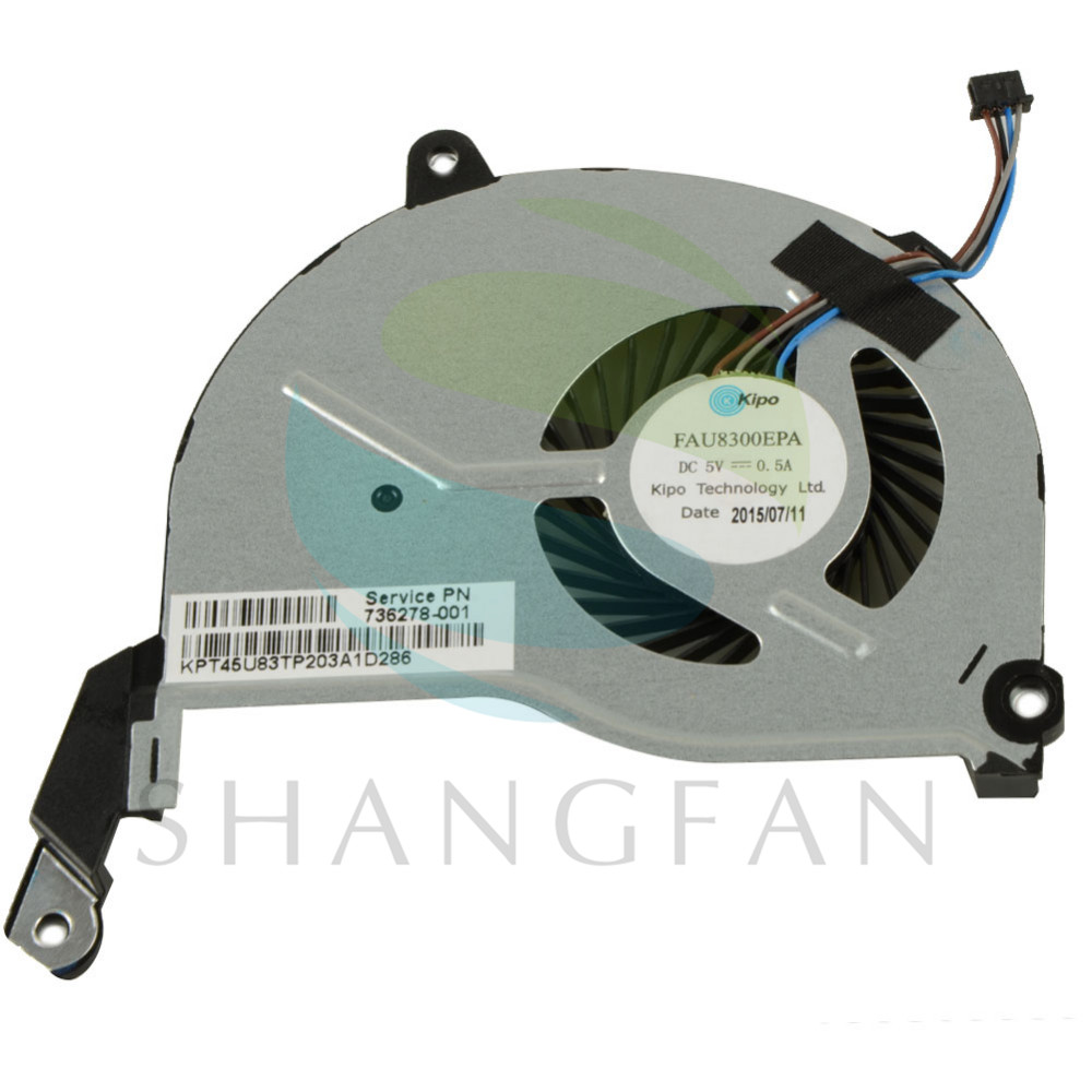 Notebook Computer Replacements Cpu Cooling Fans Fit For HP Pavilion 15-n000 Laptop (4-PIN) 736278-001 DFS200405010T VC875 P72
