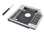 Universal Aluminum IDE to SATA 2nd HDD Caddy 12.7mm 2.5